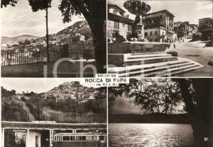 1953 ROCCA DI PAPA (RM) Vedutine con funicolare e fontana *Cartolina FG VG