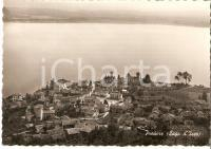 1955 PREDORE (BG) Veduta aerea con LAGO D'ISEO *Cartolina FG VG