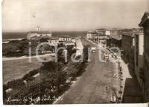 1959 LIVORNO Tram in Viale Italia - Chiesa di SAN JACOPO *Cartolina FG VG