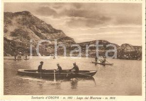 1940 OROPA (BI) Barche a remi sul Lago MUCRONE *Cartolina FG VG