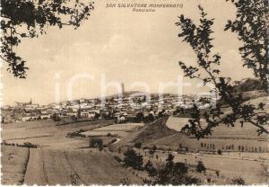 1950 ca SAN SALVATORE MONFERRATO (AL) Panorama del paese *Cartolina FG NV
