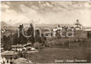 1953 LESSONA (BI) Scorcio panoramico del paese *Cartolina FG VG