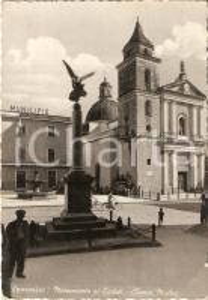 1957 SPARANISE (CE) Chiesa Madre e Monumento ai Caduti *Cartolina FG VG