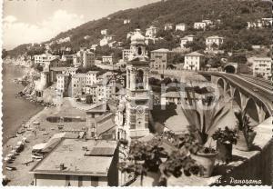 1960 SORI (GE) Panorama del paese con la spiaggia *Cartolina FG VG