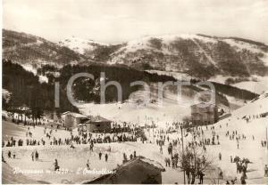 1961 ROCCARASO (AQ) Neve e sciatori in Località OMBRELLONE *Cartolina FG VG