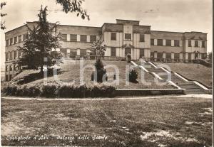 1953 COSTIGLIOLE D'ASTI Palazzo delle Scuole - Panorama *Cartolina FG VG