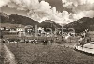 1956 DAIANO (TN) Parco giochi - Bambini sulle altalene *Cartolina FG VG