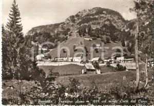 1959 PONTEBBA (UD) Frazione AUPA con monte CRETE DAL CRONZ *Cartolina FG VG