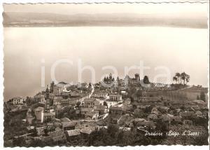 1956 PREDORE (BG) Veduta aerea con LAGO D'ISEO *Cartolina FG VG