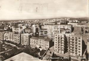1963 SASSARI Rione Cappuccini e Rione Monte Rosello *Cartolina FG VG