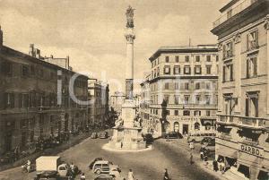 1951 ROMA Vie due macelli Piazza Mignanelli Banca AMERICAN EXPRESS *Cartolina FG
