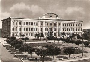 1950 SAN SEVERO (FG) Edifio scolastico DE AMICIS *Cartolina FG VG