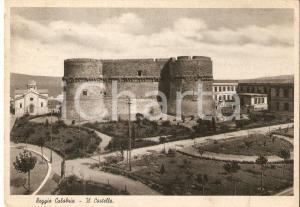 1940 REGGIO CALABRIA Panorama con il castello *Cartolina FG VG