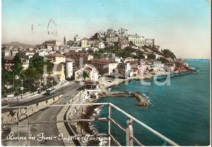 1958 IMPERIA Panorama della città RIVIERA DEI FIORI *Cartolina FG VG