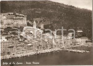 1960 ca PORTO VENERE (SP) Panorama con Golfo di LA SPEZIA *Cartolina FG NV