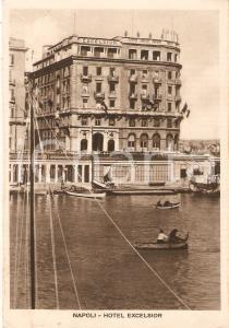 1941 NAPOLI Barche a remi davanti all' Hotel Excelsior *Cartolina FG VG