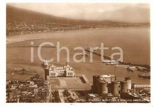 1940 NAPOLI Stazione marittima e MASCHIO ANGIOINO *Cartolina FG VG