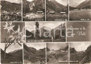 1954 DAONE (TN) Vedutine Boazzo BISSINA Malga Nudole e Fumo *Cartolina FG VG
