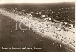 1965 MARINA DI PIETRASANTA (LU) Panorama dall'aereo *Cartolina FG VG