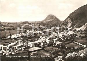 1955 MONTECOPIOLO (PU) Frazione VILLAGRANDE e monte SAN MARCO *Cartolina FG VG