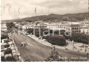 1955 MESSINA Edicola e camion in Piazza Cairoli *Cartolina FG VG