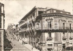 1952 CATANIA Salita SAN GIULIANO Panorama *Cartolina FG VG