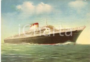 1960 ca MARINA MERCANTILE Transatlantico Leonardo DA VINCI Navigazione ITALIA FG