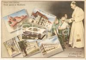 1955 OPERA DON ORIONE Istituti di Gallio del Grappa MESSINA *Cartolina FG VG