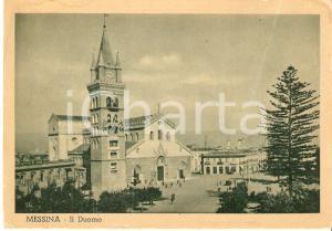 1940 ca MESSINA Panorama con il Duomo *Cartolina FG NV