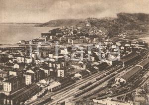1950 ca VENTIMIGLIA (IM) Panorama con stazione ferroviaria *Cartolina FG NV