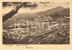 1950 ca VENTIMIGLIA (IM) Veduta con stazione ferroviaria *Cartolina FG NV