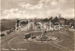 1954 MESSINA Torpedone in Piazza del Governo *Cartolina FG NV