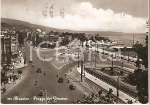 1956 MESSINA Benzinaio AGIP in Piazza del Governo *Cartolina FG VG