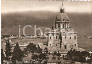 1954 MESSINA Tempio votivo a CRISTO RE *Cartolina FG VG