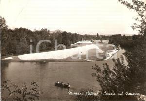 1962 MANZANO (UD) Cascata sul NATISONE - Panorama con barca *Cartolina FG VG
