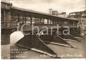 1960 ca BASSANO DEL GRAPPA (VI) Panorama con Ponte Vecchio *Cartolina FG NV