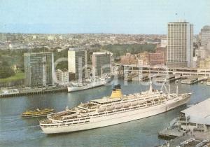 1960 ca TRIESTE - LLOYD TRIESTINO Transatlantico Guglielmo MARCONI *Cartolina FG