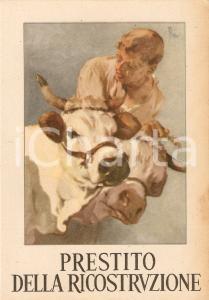 1946 PRESTITO DELLA RICOSTRUZIONE *Cartolina postale pubblicitaria FG VG