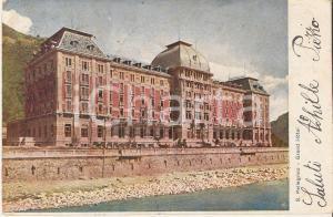 1904 SAN PELLEGRINO TERME (BG) Panorama del Grand Hotel *Cartolina FP VG