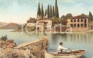 1930 ca PUNTA SAN VIGILIO (VR) Barca a remi e Hotel *Cartolina FP VG