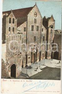 1906 BARI Veduta aerea Basilica di San Nicola *Cartolina FP VG
