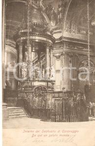 1903 CARAVAGGIO (BG) Interno del Santuario della Beata Vergine *Cartolina FP VG