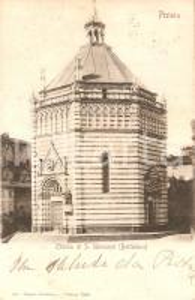 1902 PISTOIA Battistero della Chiesa di SAN GIOVANNI *Cartolina FP VG
