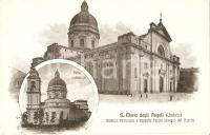 1910 ASSISI (PG) Santa Maria degli Angeli Illustrazione VIGNOLA *Cartolina FP VG