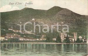 1910 PREDORE (BG) Panorama con Lago d'ISEO *Cartolina FP VG
