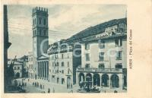 1929 ASSISI (PG) Piazza del Comune *Cartolina ANIMATA FP VG