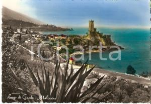 1950 ca MALCESINE (VR) Panorama con LAGO DI GARDA *Cartolina FG NV