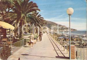 1965 ca ALASSIO (SV) Passeggiata sul lungomare *Cartolina FG VG