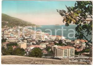 1957 ALASSIO (SV) Panorama con Isola GALLINARA *Cartolina FG VG