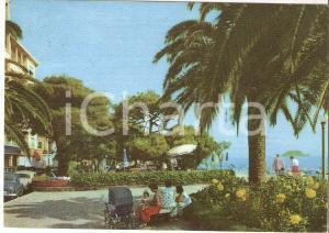 1959 ALASSIO (SV) Mamma con passeggino ai giardinetti *Cartolina FG VG